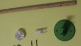 Bauteilsatz Gleisfeldleuchte (Holzmast) Laterne Oberteil, Lampenaufnahme (Holzmast), Verteilerkasten, Lampenfuß