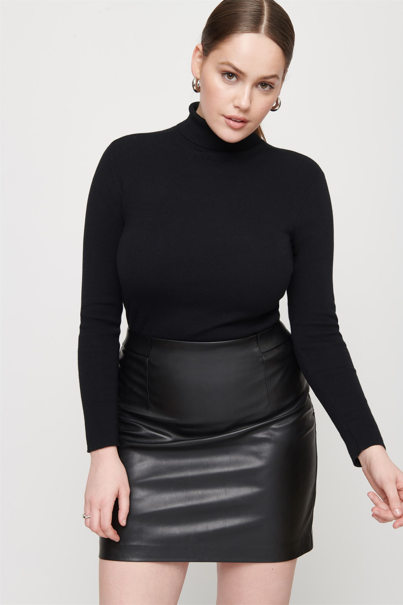 6d9f6d06e image image image image. High Rise Faux Leather Skirt