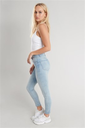 Image of High Rise Ankle Jegging - Maryland Blue
