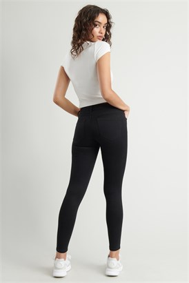 Image of Super Soft Mid-Rise Ankle Jegging - Black
