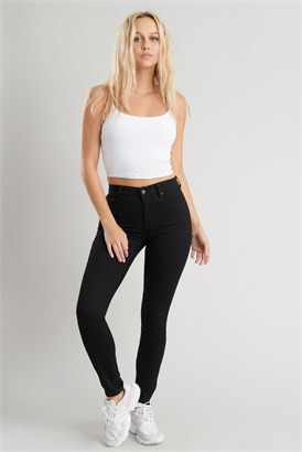 Image of High Rise Ankle Jegging - Black