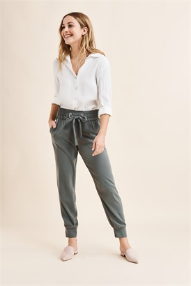 Sacha Jogger Pant With Tie