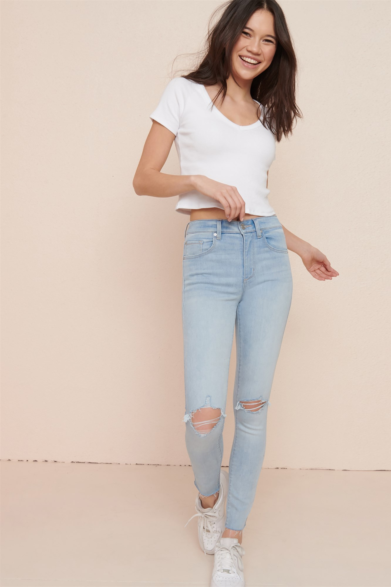 Image 1 of High Rise Jegging - All Bright Bleach - FINAL SALE