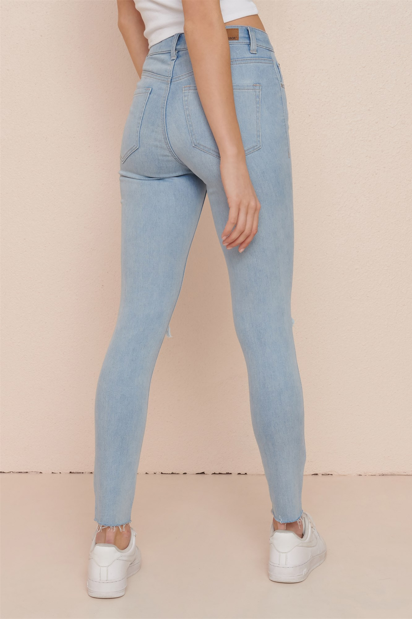 Image 3 of High Rise Jegging - All Bright Bleach - FINAL SALE