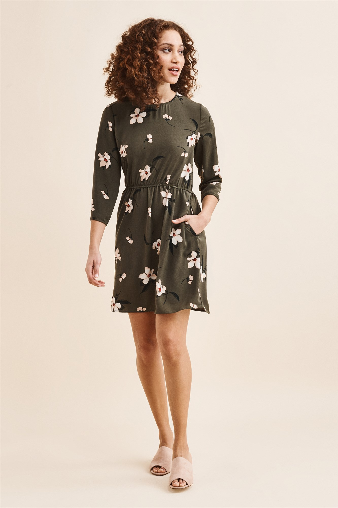50c39000752 Long Sleeve Fit & Flare Dress
