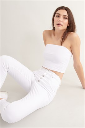Image of Jegging à taille ultra-haute - Blanc