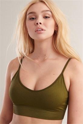 Image of Bralette sans coutures à dos ouvert