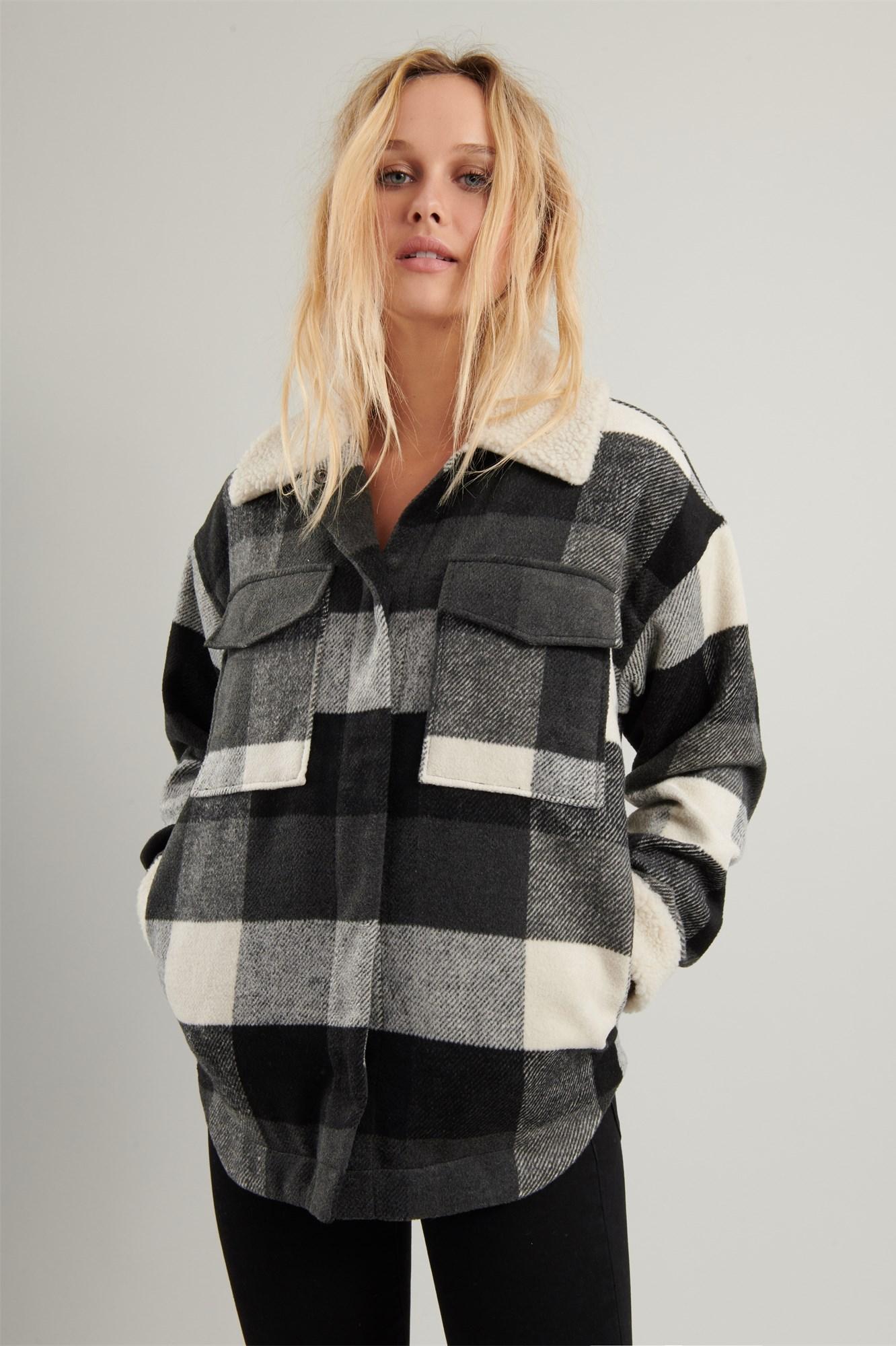 Image 5 of Plaid Shirt Jacket