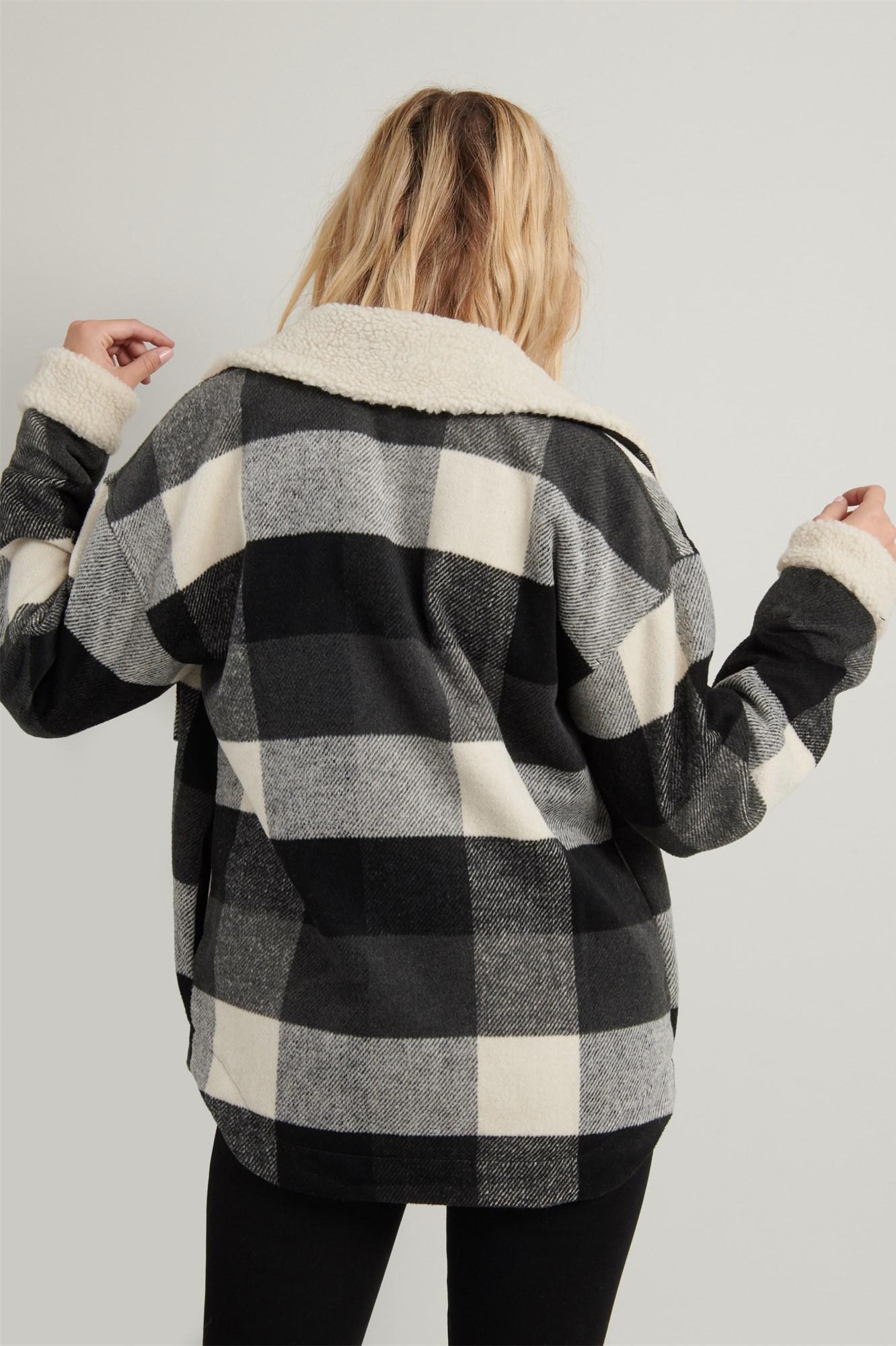 Image 7 of Plaid Shirt Jacket