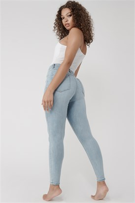 Image of High Rise Jegging - Belltown Blue