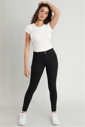Image of High Rise Jegging - Black
