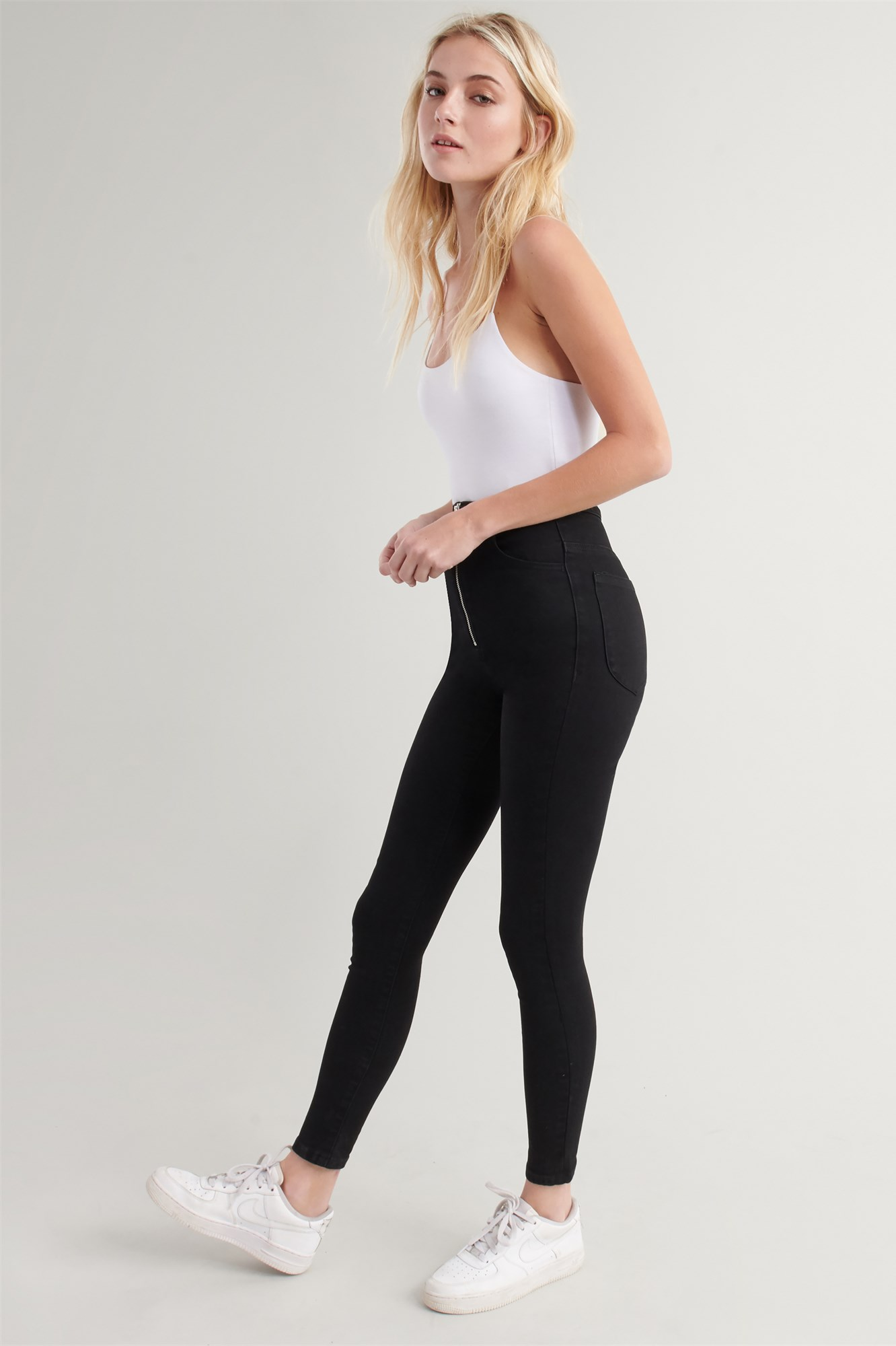 Image 4 of Extreme High Rise Jean - Black