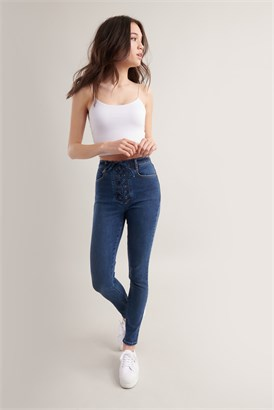 Image of Ultra High Rise Jegging - Dominica Blue