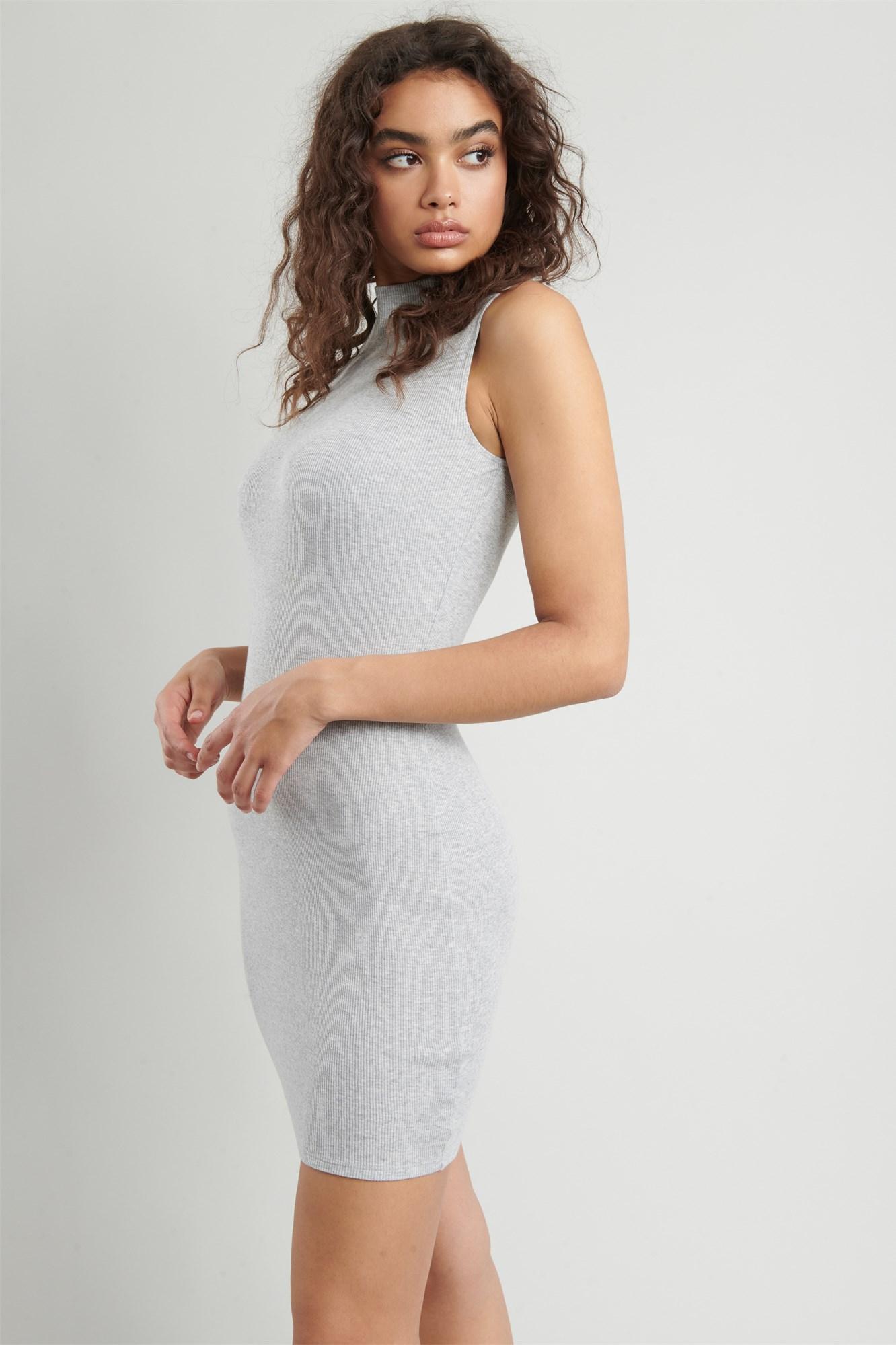 Image 1 of Mock Neck Bodycon Dress