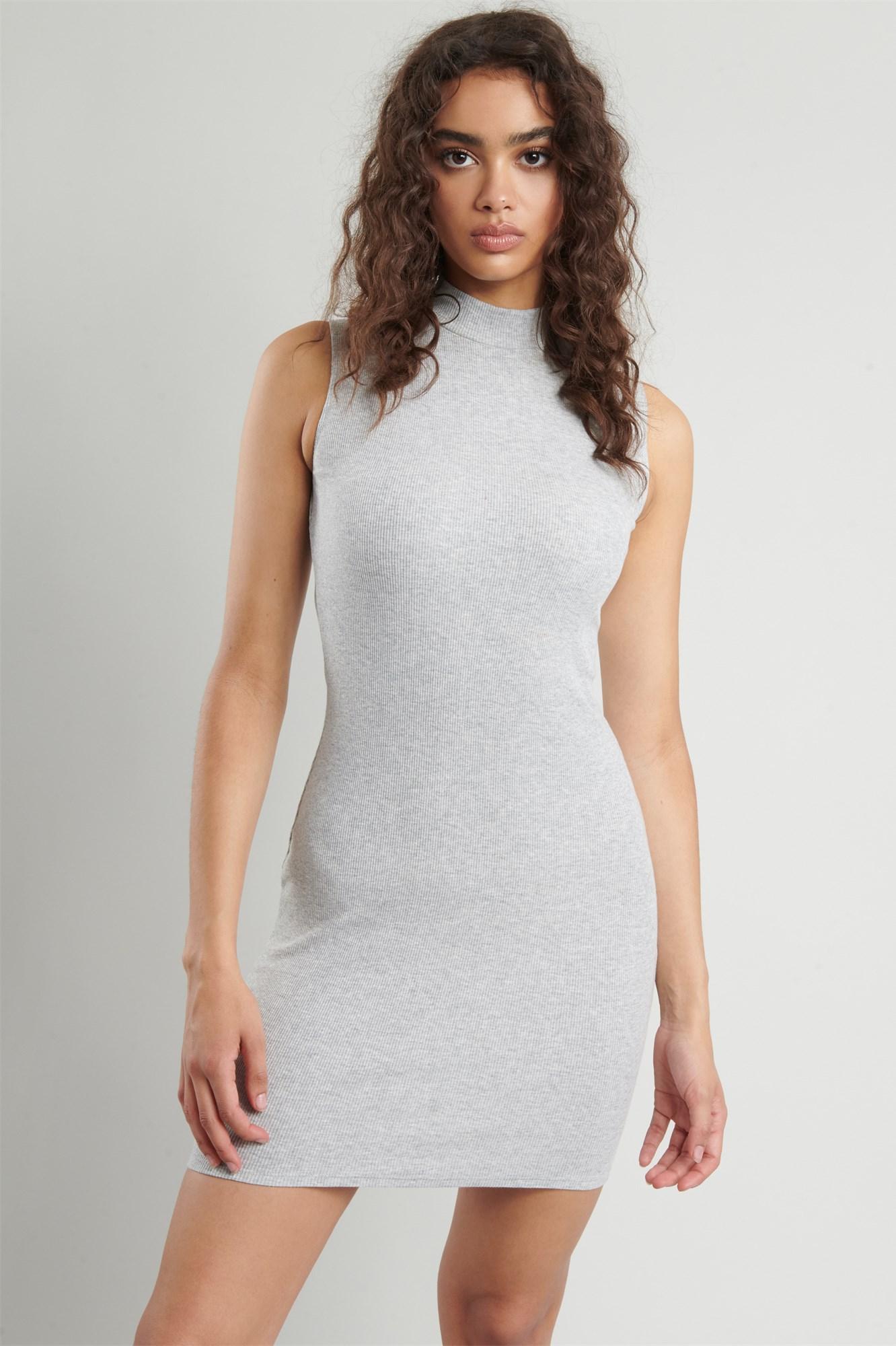 Image 3 of Mock Neck Bodycon Dress