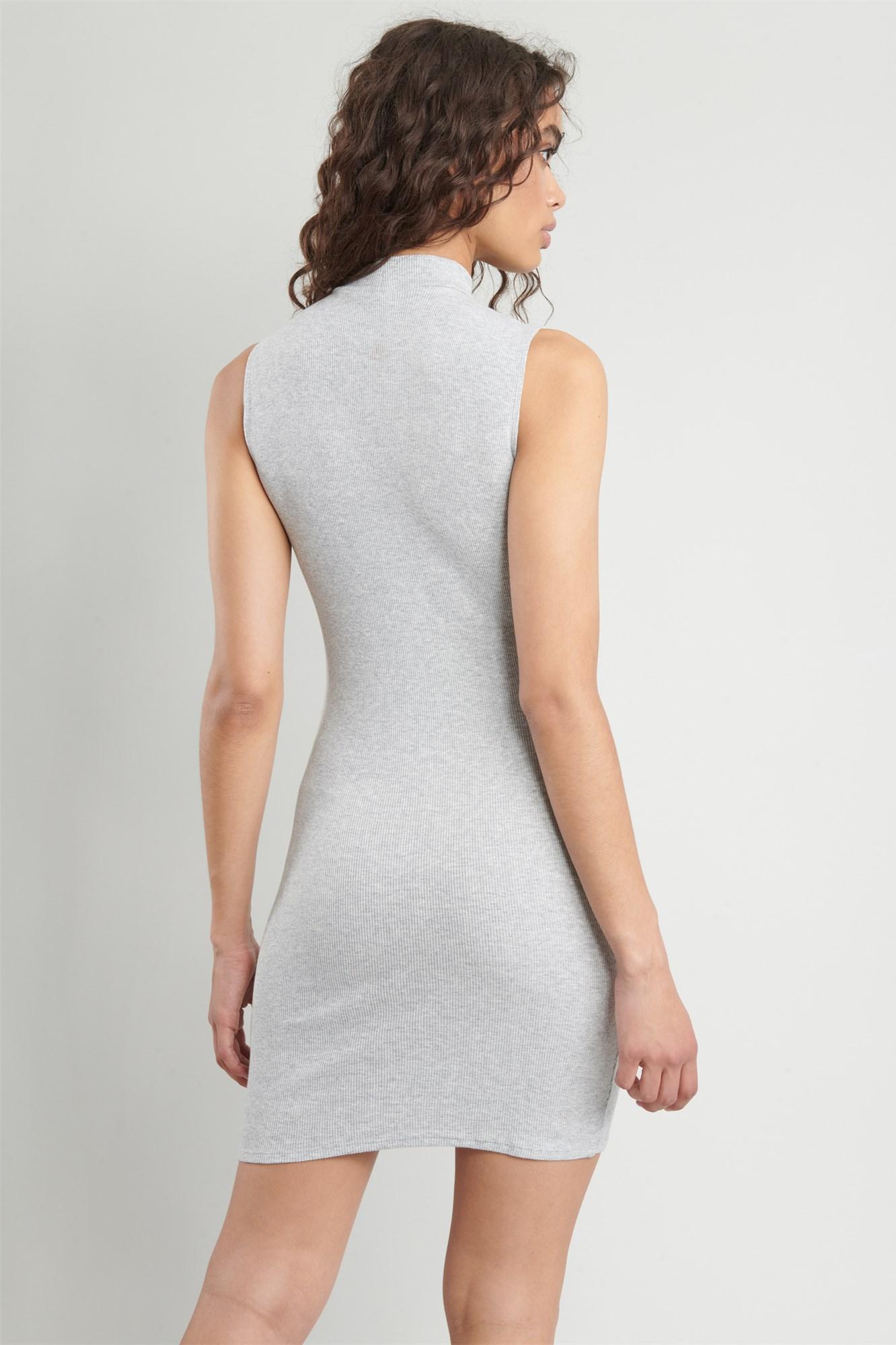 Image 4 of Mock Neck Bodycon Dress