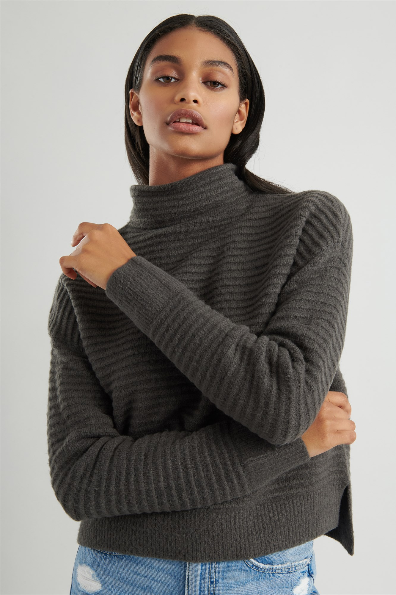 funnel-neck-sweater by garage