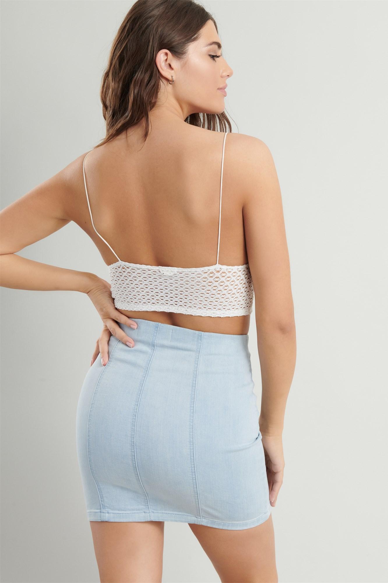 Image 3 of Ultra High Rise Denim Skirt