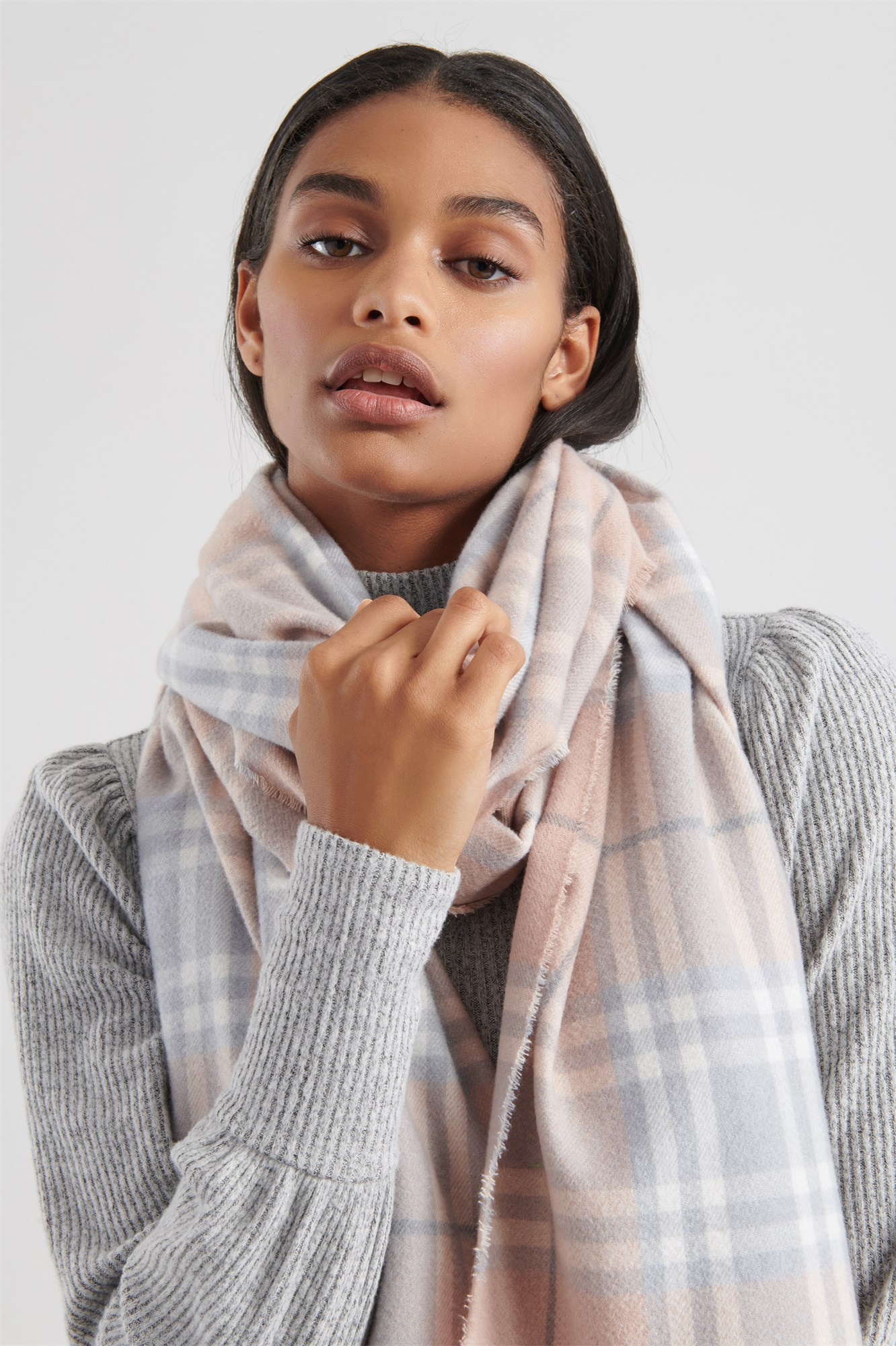 Lightweight Plaid Scarf by Garage