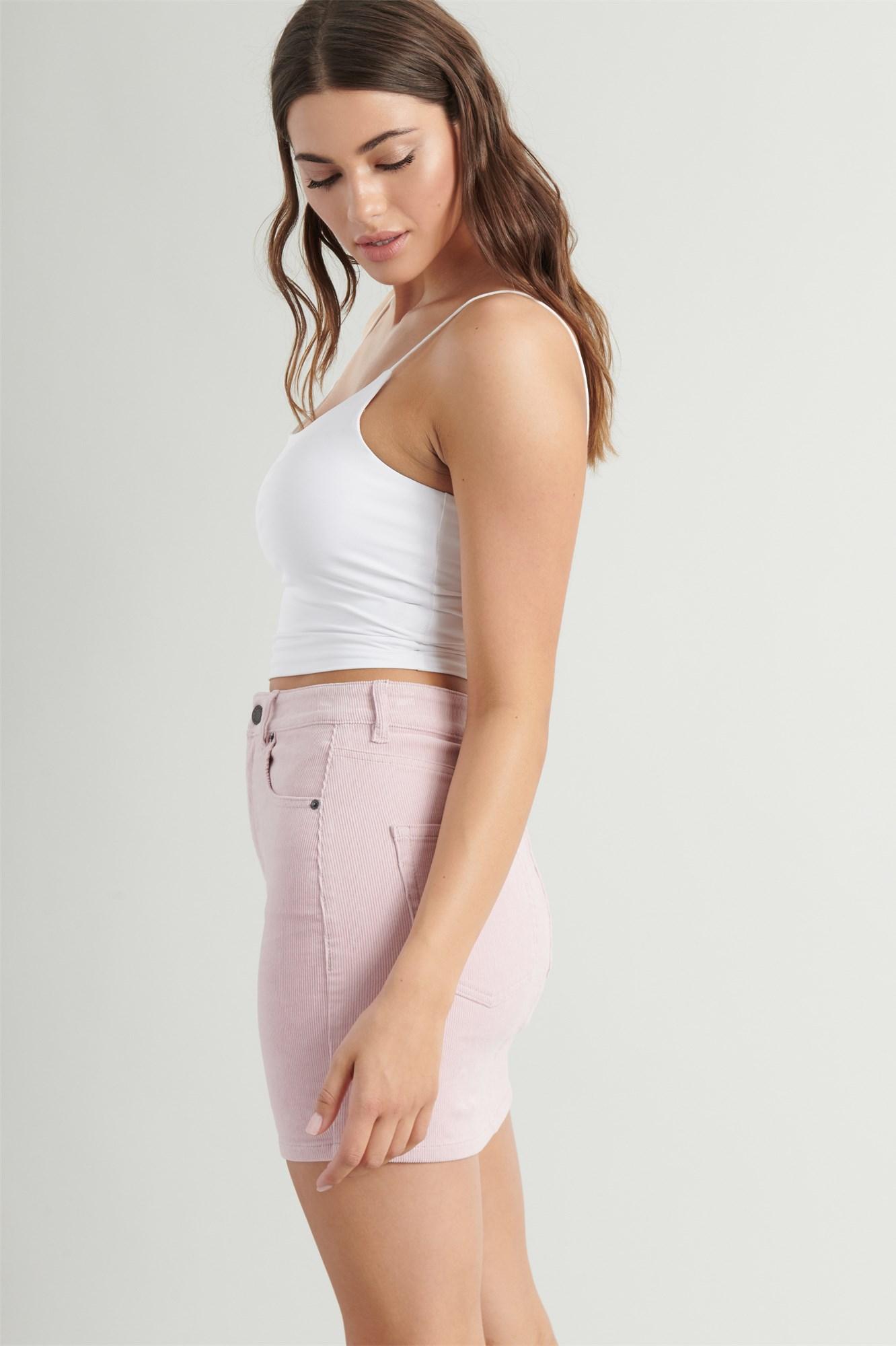 Image 2 of High Rise Corduroy Skirt
