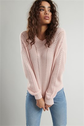 Image of Supersoft Pointelle Sweater