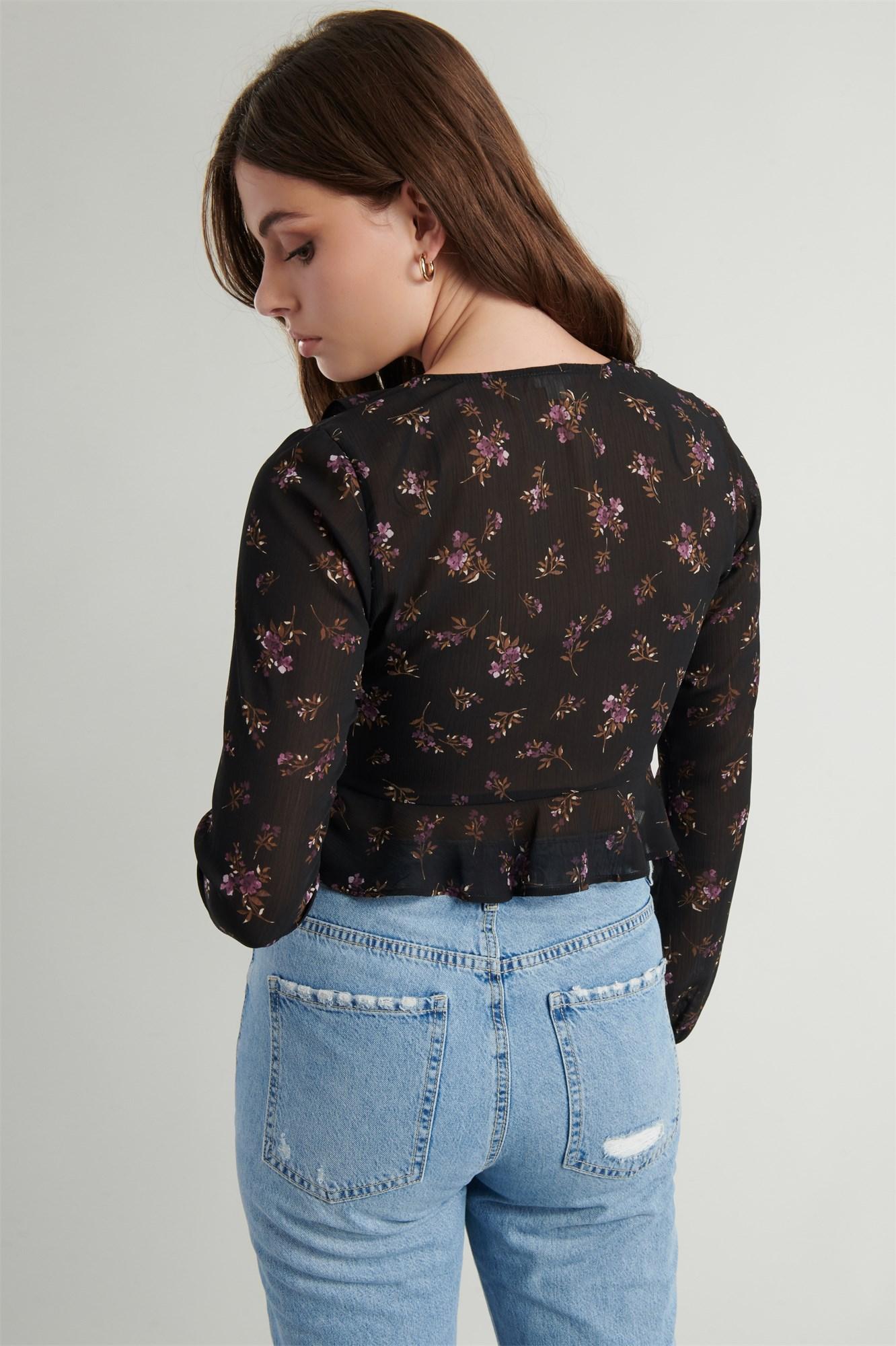 Image 5 of Chiffon Ruffle Shirt