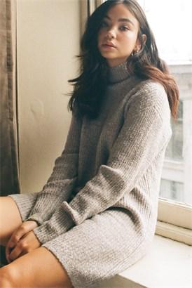 Image of Mock Neck Sweater Dress