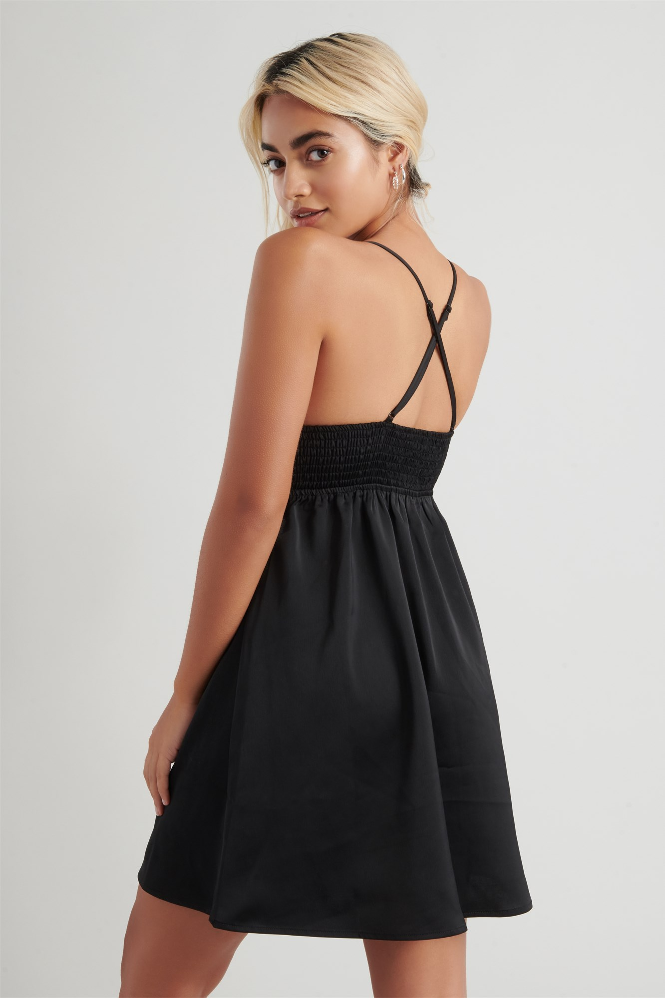 Image 5 of Satin Fit & Flare Dress