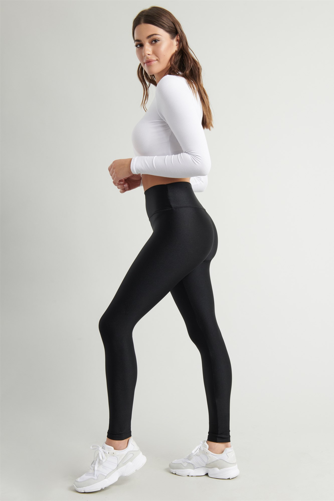 Image 1 of Luxe Shiny High Rise Legging