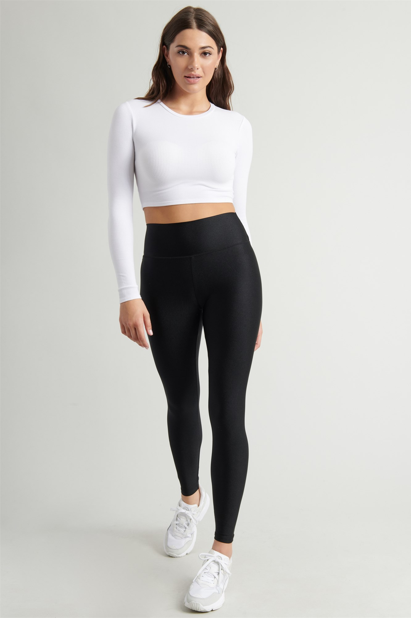 Image 2 of Luxe Shiny High Rise Legging