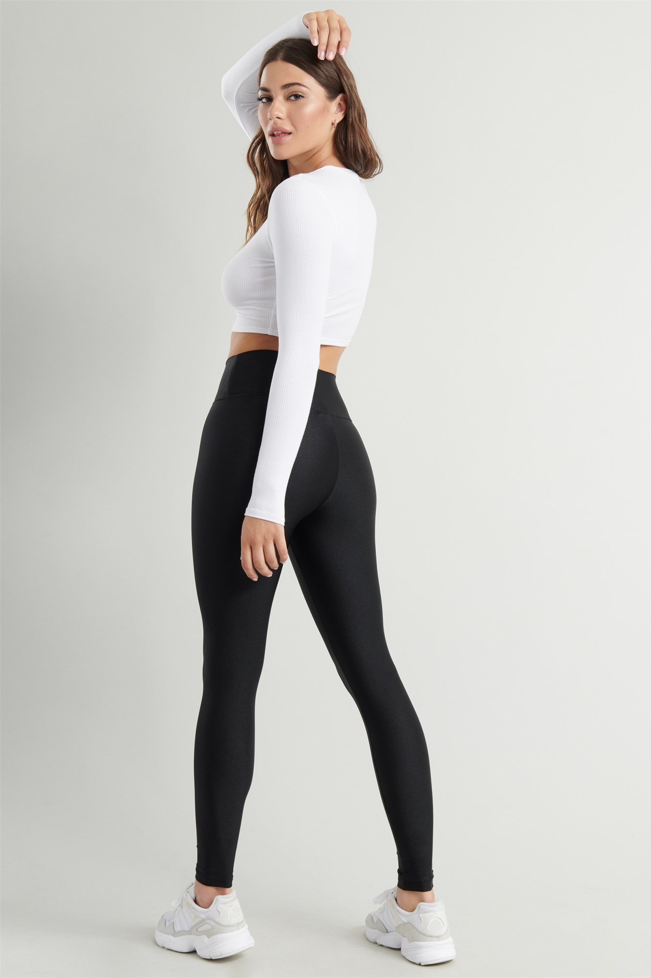 Image 3 of Luxe Shiny High Rise Legging