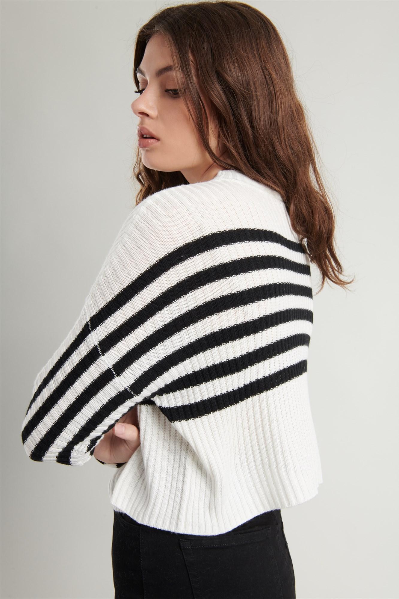 Image 5 of Crop Drop Shoulder Sweater