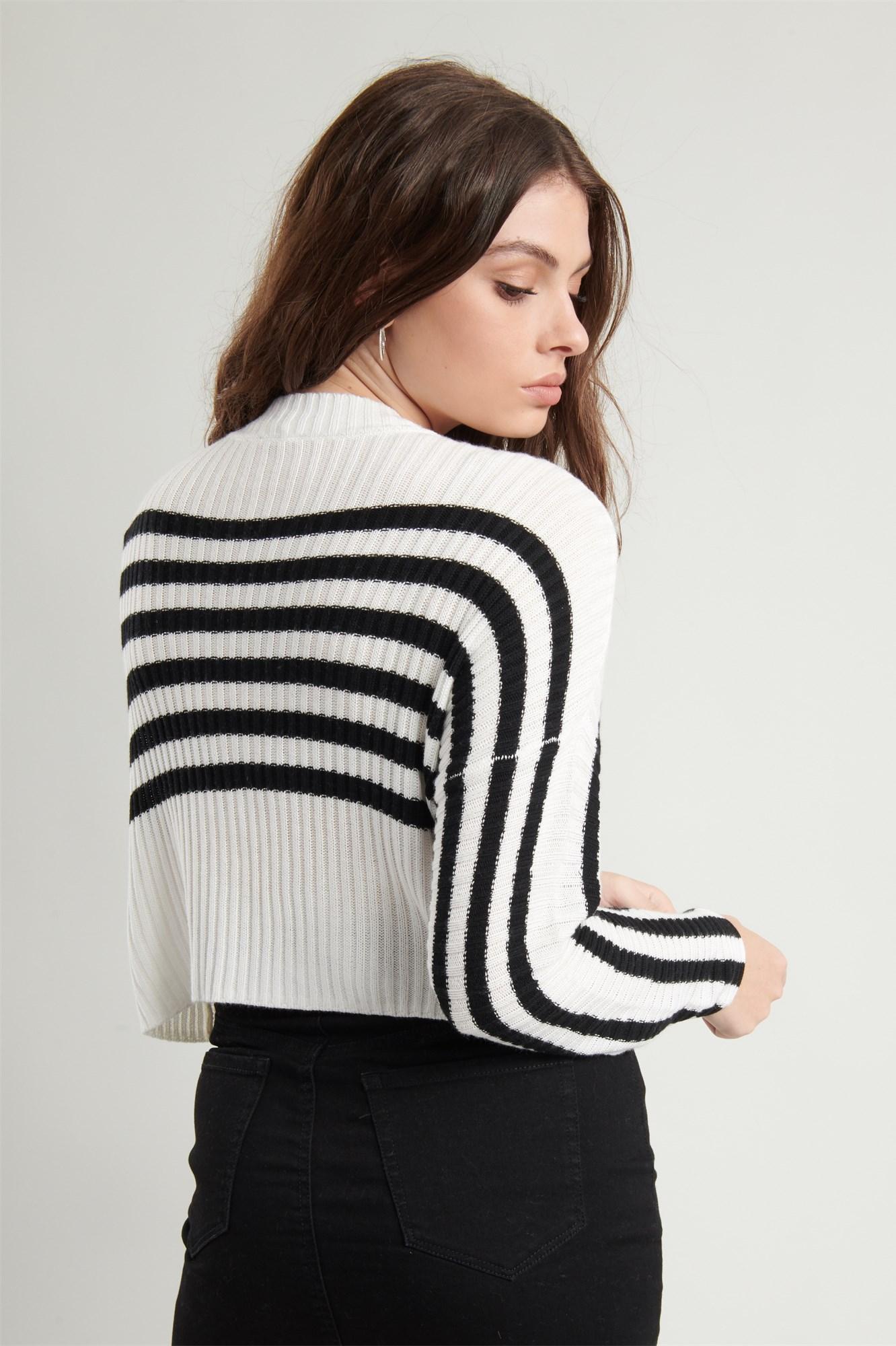Image 6 of Crop Drop Shoulder Sweater