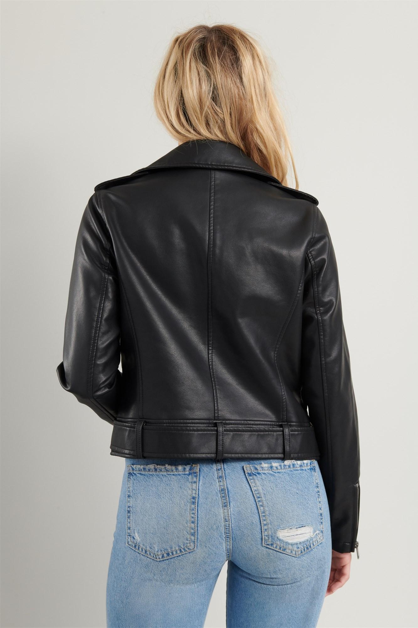 Image 5 of Faux Leather Moto Jacket