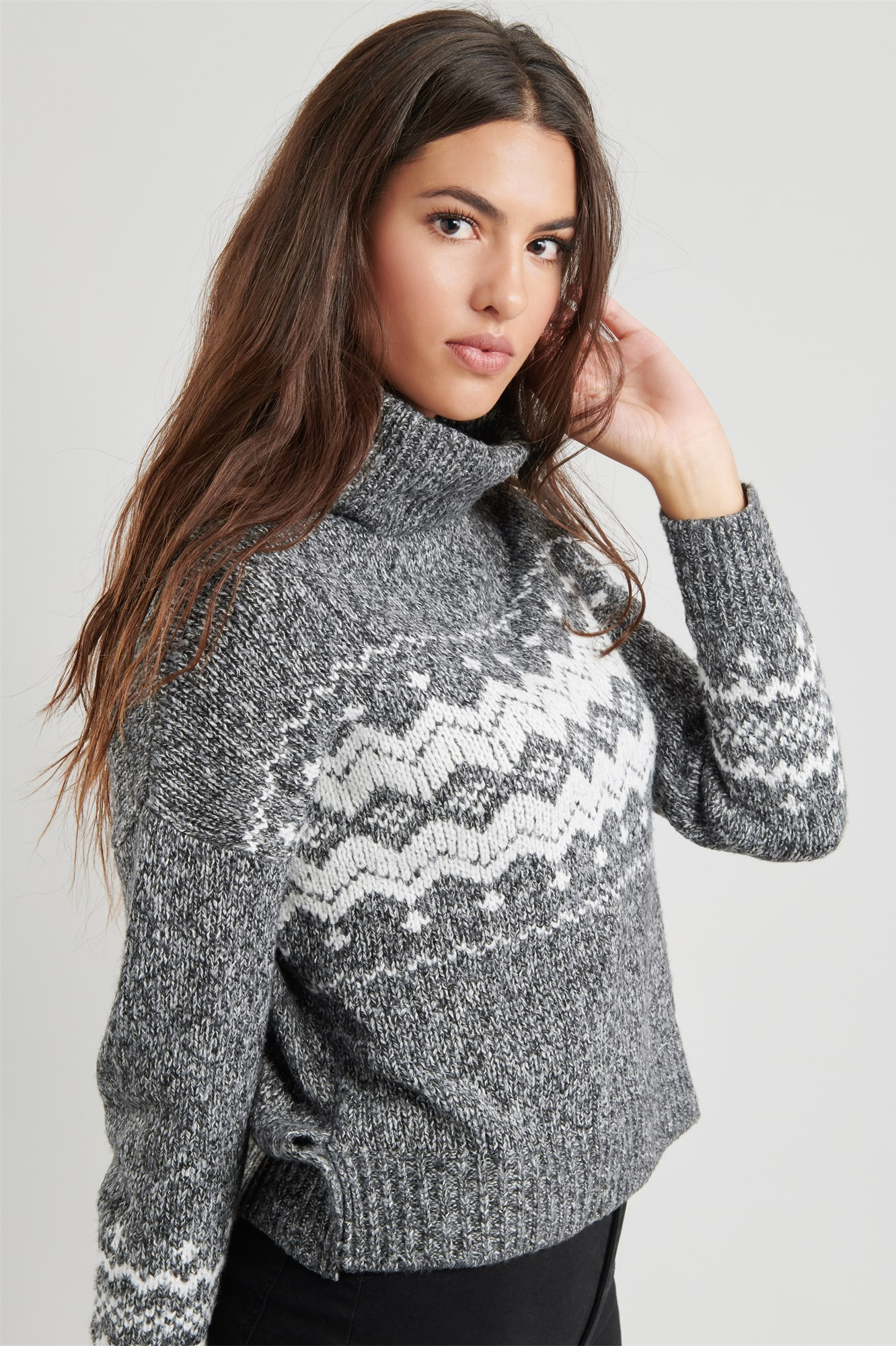 Fairisle Turtleneck Sweater by Garage