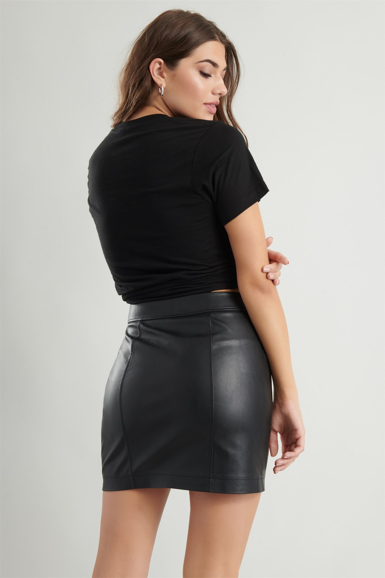 Image 3 of Faux Leather Skirt