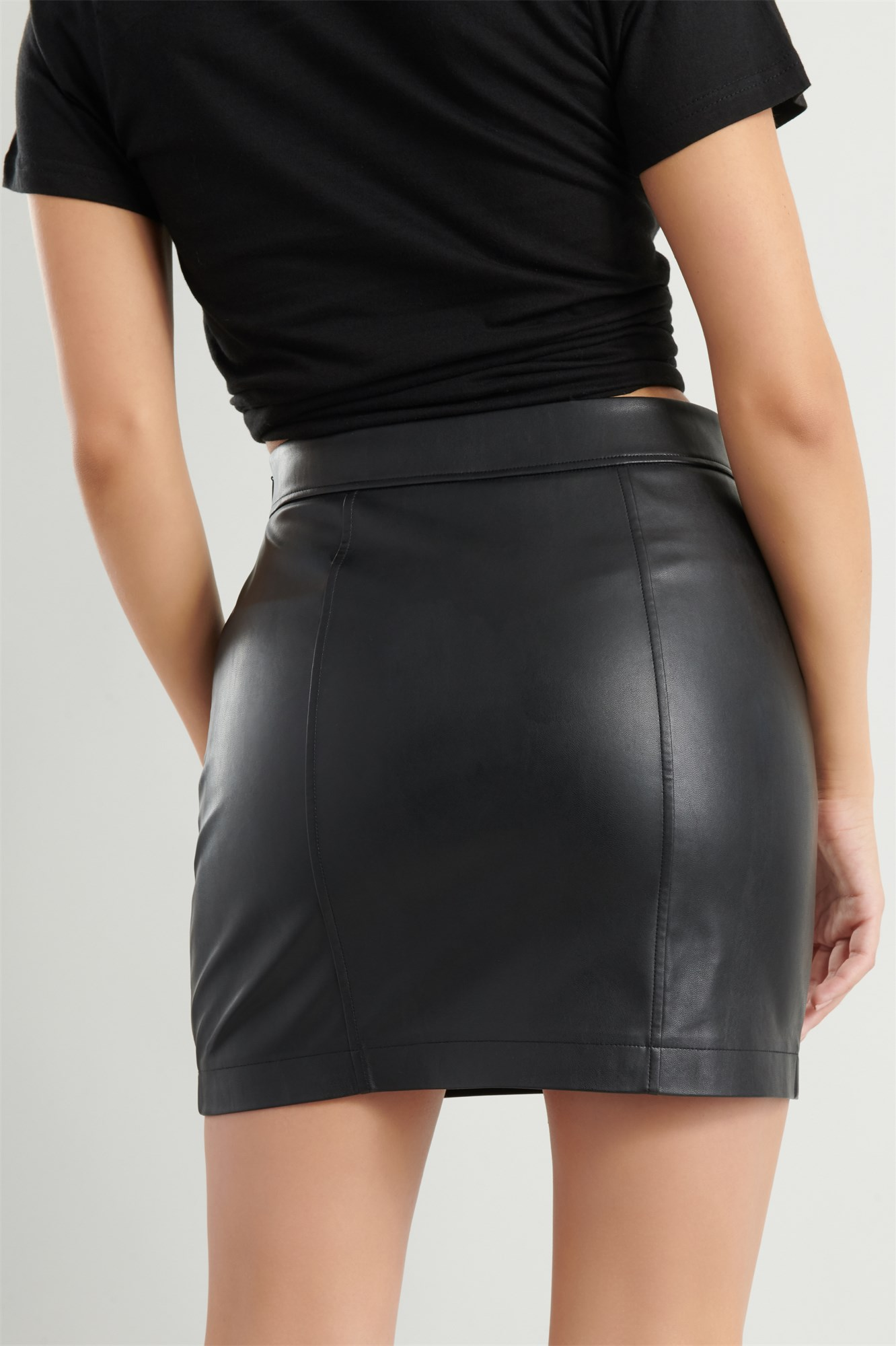 Image 5 of Faux Leather Skirt