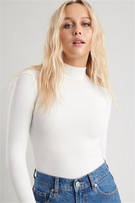 Image of Long Sleeve Mock Neck Top