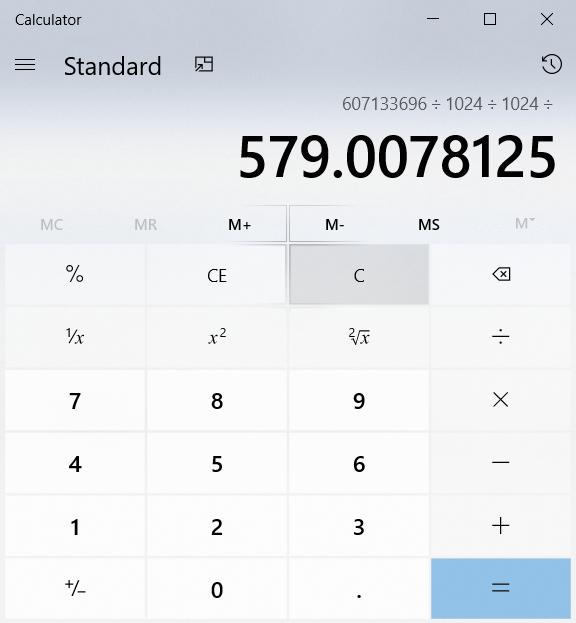 RAM Calculation