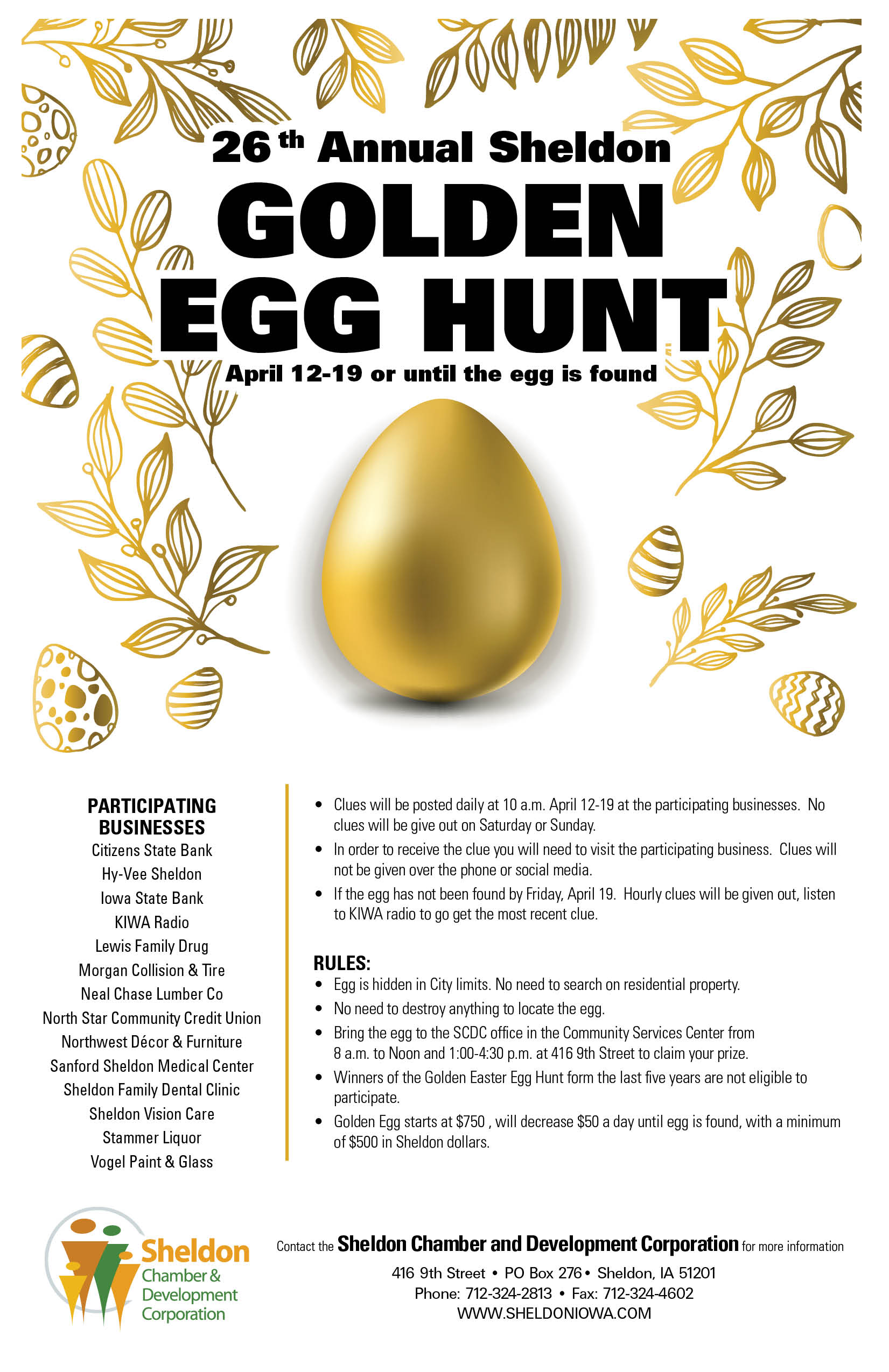 2019 Golden Easter Egg Hunt