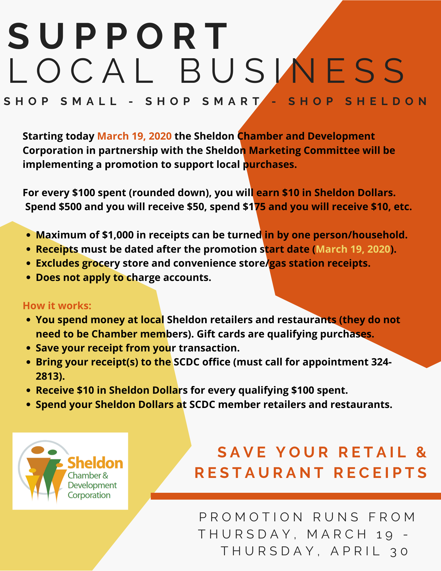 Sheldon Dollars Promotion