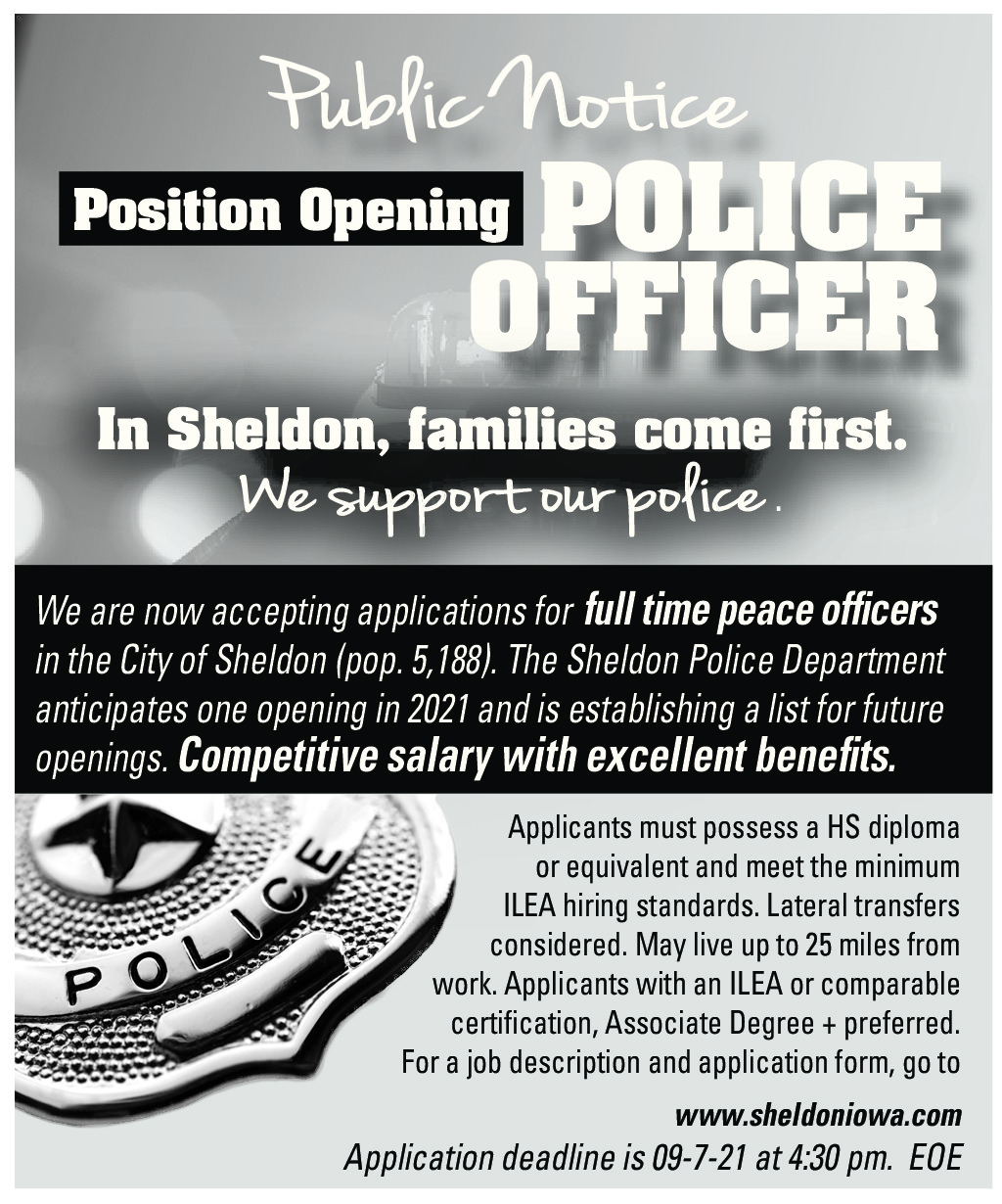 Now Accepting Applications for Full-Time Officer