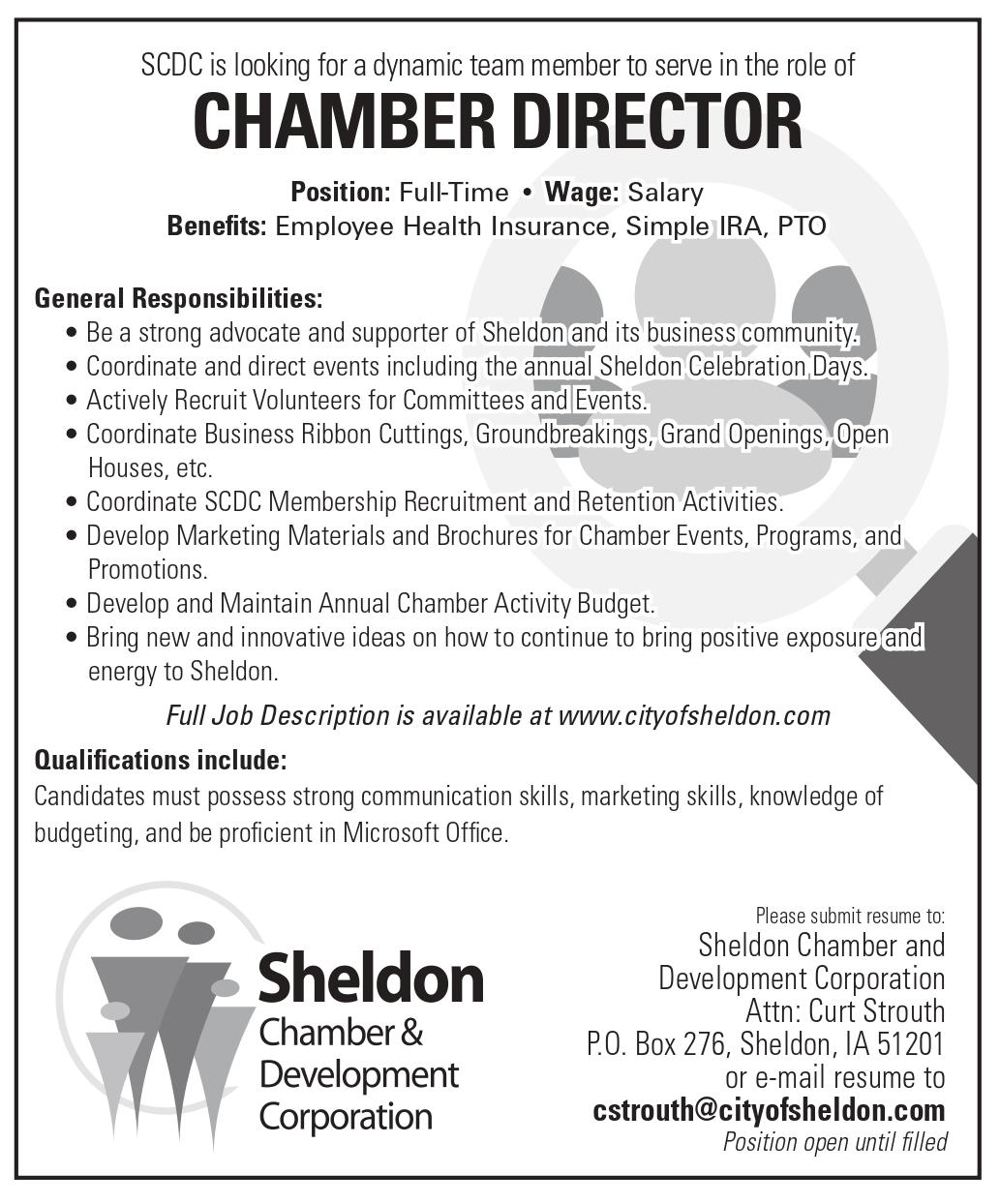 Help Wanted: Chamber Director