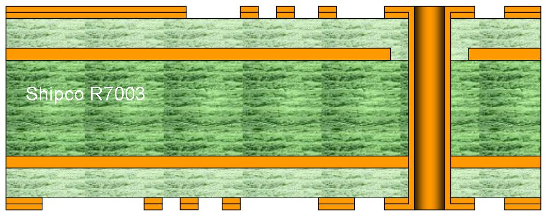 R7003 – 4 Layer standard multilayer PCB