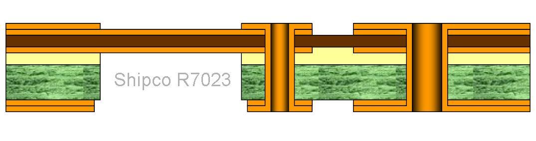 R7023 – 3 layers asymmetric Rigid Flex Board One lamination stage