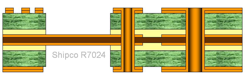 R7024 – 4 layers Rigid Flex board One lamination stage