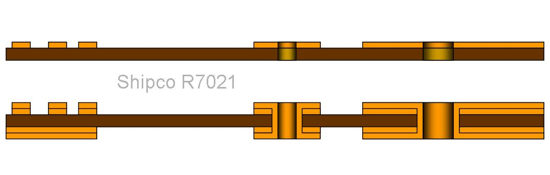 R7021 – Single sided no plated and double sided Through plated Flex board