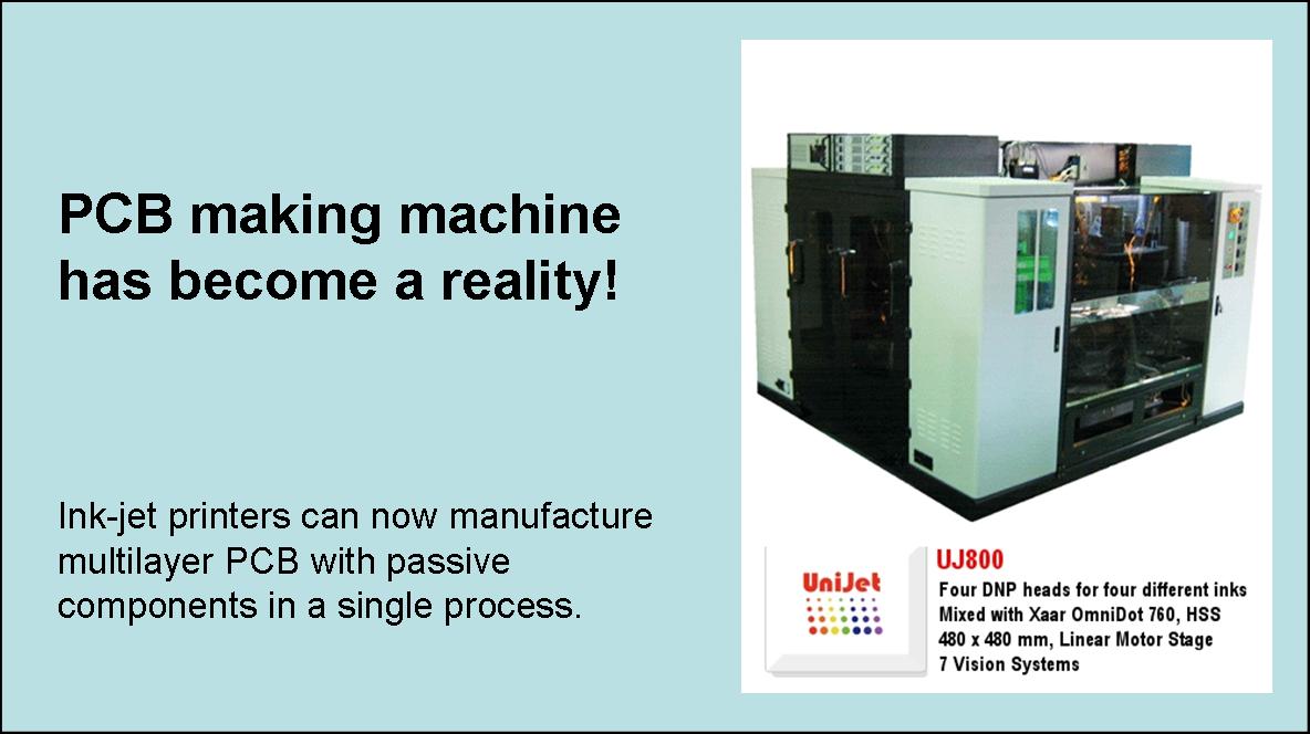 UniJet UJ800 PCB Machine