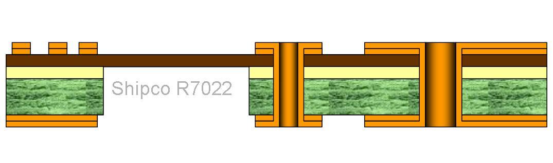 R7022 – 2 layers Rigid Flex board One lamination stage