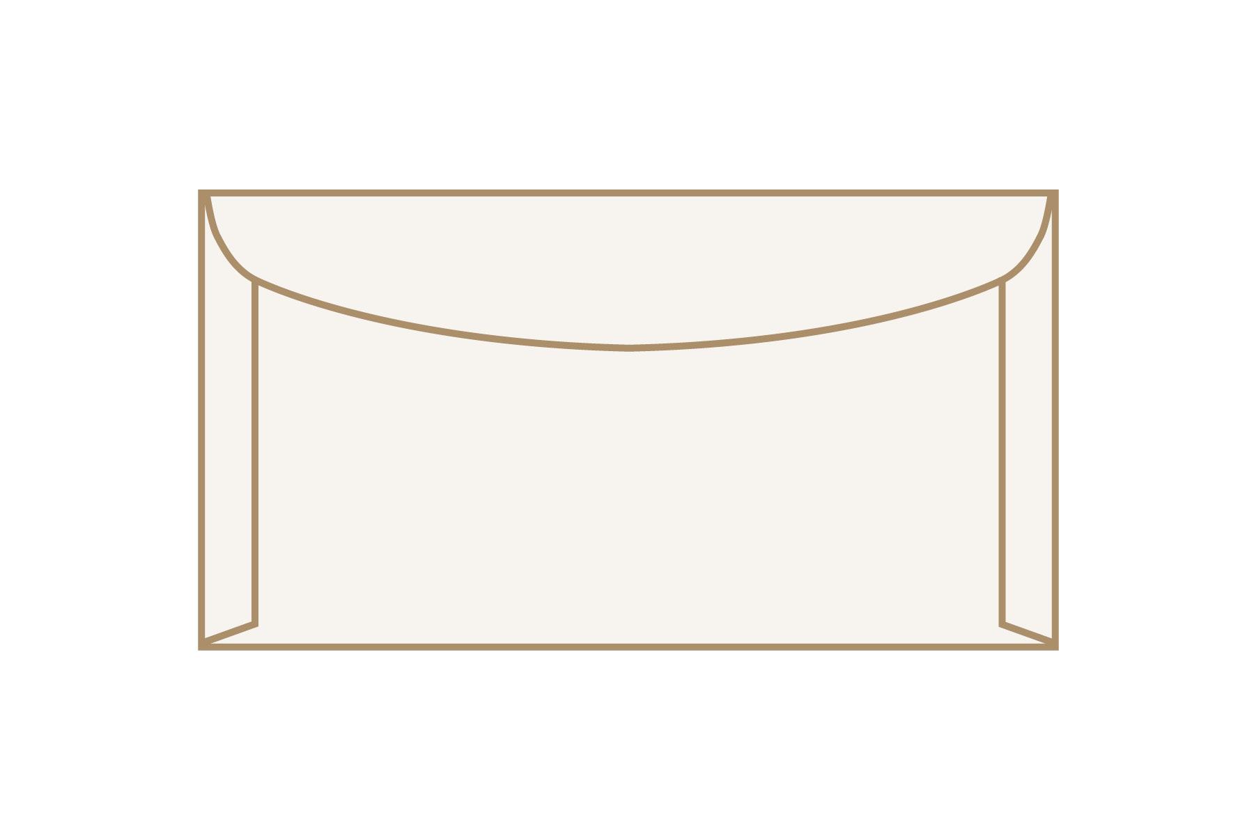 Kuvertier-Briefumschläge 125 x 235 mm ohne Fenster